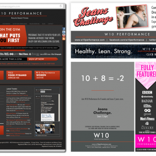 W10 Performance Gym Branding
